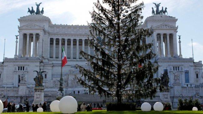 Головна ялинка Італії: «обскубана» і дорога. ФОТО